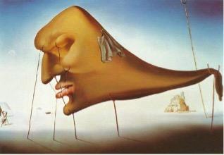 Figura 2. El sueño, Dalí, 1937. El óleo representa uno de los temas más fascinantes para los surrealistas: el mundo de los sueños; reveladores de la actividad subconsciente y detonadores de la fuerza creadora.